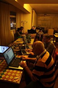 Gli archeologi a lavoro all'Hotel Palladio - Data Processing
