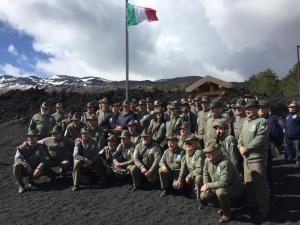Alpini dell'ANA  sull'Etna