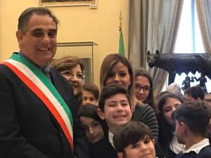 Gli alunni a Montecitorio