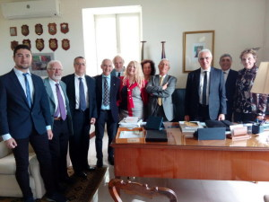Foto con l'Ambasciatore Italiano di Malta e con la Delegazione del Gruppo Siciliano per la promozione della Cultura
