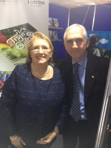 Il prof. Ignazio Vecchio con la Presidente della Repubblica di Malta Maria Luisa Coleiro