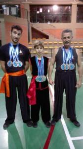 Il medagliere dei tre atleti dell'ASAMIR