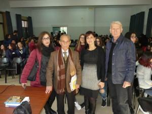 Da  sin. la prof.  Serafina Sturiale, il preside Bottari, la prof. Carmelina Longo e il vicesindaco Carmelo Giardina