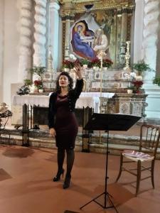 Giusy  Di Mauro si esibisce a Taormina