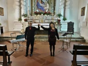 Il duo Di Mauro- Forzisi al concerto di Taormina