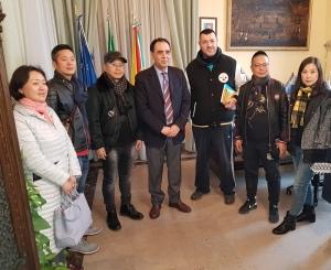 La delegazione cinese