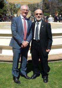 Con il Commissario Generale degli Affari degli Anziani per lo stato del Victoria Gerard Mansour.