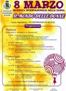 La locandina con il programma dell'evento
