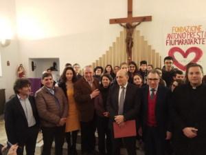La foto di gruppo al centro Antonio Presti e Gaetano Sirna