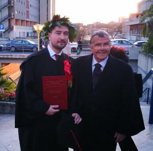 La foto ricordo con il prof. Cardinale