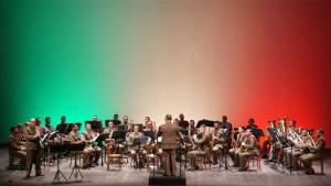 La Banda della Brigata Aosta in una  esibizione al Teatro Vittorio Emanuele di Messina
