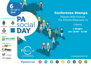 Locandina della Conferenza Stampa del PA SOCIAL DAY di Catania