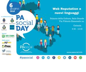 Locandina del PA Social Day di Catania del 6 giugno