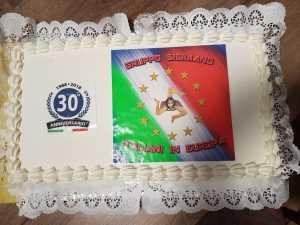 La torta celebrativa