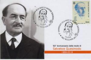 Cartolina e francobollo Quasimodo