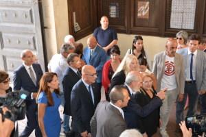 L'arrivo della Presidente di Malta al Palazzo del Rettorato in Piazza Università