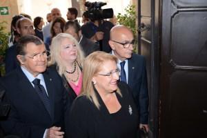 L'ingresso nell'Aula Magna del Palazzo Università di S. E. Marie Louise Coleiro Preca