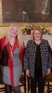 La Prof. Cristina Tornali e la Presidente di Malta