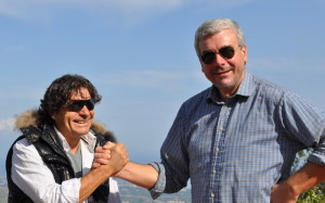 Il dott. Rosario Messina con il Maestro Centra