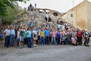 Il gruppo di escursionisti a Pietraperciata