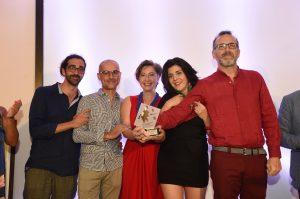 """La compagnia vincitrice del XII Premio Musco la compagnia """"Imprevisti e Probabilità"""" e il regista Raffaele Furno"""