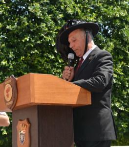 Gianni Saglimbeni legge la Preghiera del Bersagliere