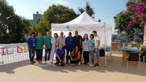 Il Gazebo con Volontari e Medici