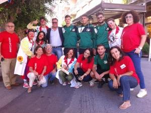 volontari, personale paramedico , atleti e clown tra il Presidente Admo Parrino e l'avv. Paratore nell'edizione dell'anno scorso