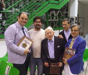 Il prof. Elviro Langella con Giuseppe Perna e Renato Palmieri