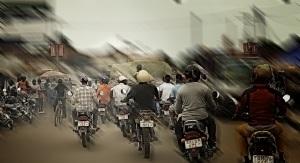 Motociclisti in città