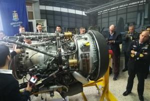 Un motore aereo del laboratorio