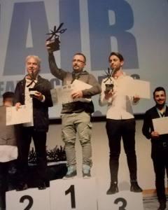 Il podio di campione del Mondo conquistato di recente da Carmelo Giuffè