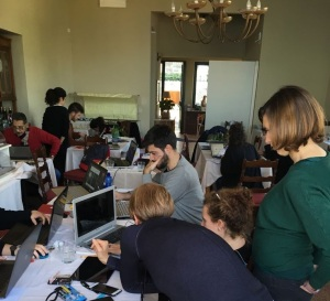 Gli studenti del workshop