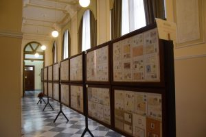 Pannelli filatelici della mostra