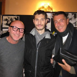 Gli stilisti Dolce & Gabbana con  Stefano Fappiano