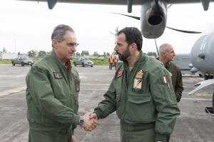 Sigonella visita CFSS: l'arrivo del Generale