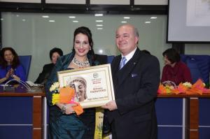 L'Avv. Silvana Paratore ed il Delegato provinciale A. I. O. C. Calabria Cav. Uff. Corrado Savasta