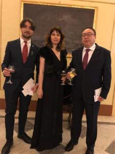 Il dott. Flavio Vecchio con l'Ambasciatore della Tunisia