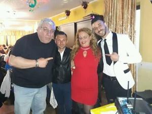 Foto assieme ai cantanti
