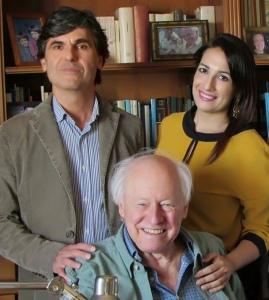 Il dott. Pino Mento e l'Avv. Silvana Paratore con il Prof. John Allan Hobson