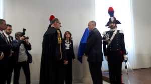 Cerimonia inaugurale del busto di Mattarella dello scultore Turi Azzolina
