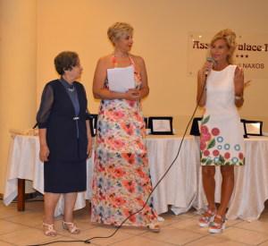 Nunzia De Cola, Angela Lombardo Presidente dell'Associazione Mea Lux con Floriana Perrone una delle concorrenti premiate nella precedente edizione