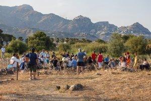 Il pubblico presente al Parco Archeologico di Naxos