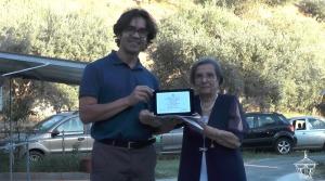 Il dott. Marcus Tullius Loureiro medico brasiliano premiato per il suo diario. Er agià stato premiato per un altro testo in una passata edizione
