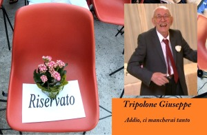 La sedia vuota a ricordo di Giuseppe Tripolone