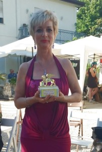La Russell con il Leone D'oro ricevuto a Stra-Venezia