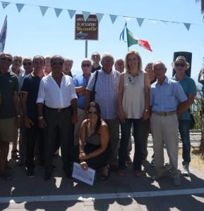 La foto di gruppo: al centro in basso l'avv. Silvana Paratore
