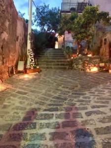 La scalinata illuminata