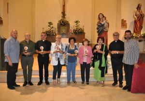 La Pof.ssa Angela Vecchio con gli organizzatori e componenti della giuria
