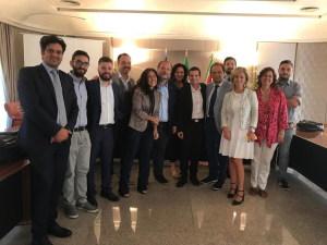 La foto di gruppo con gli organizzatori del convegno di Palermo